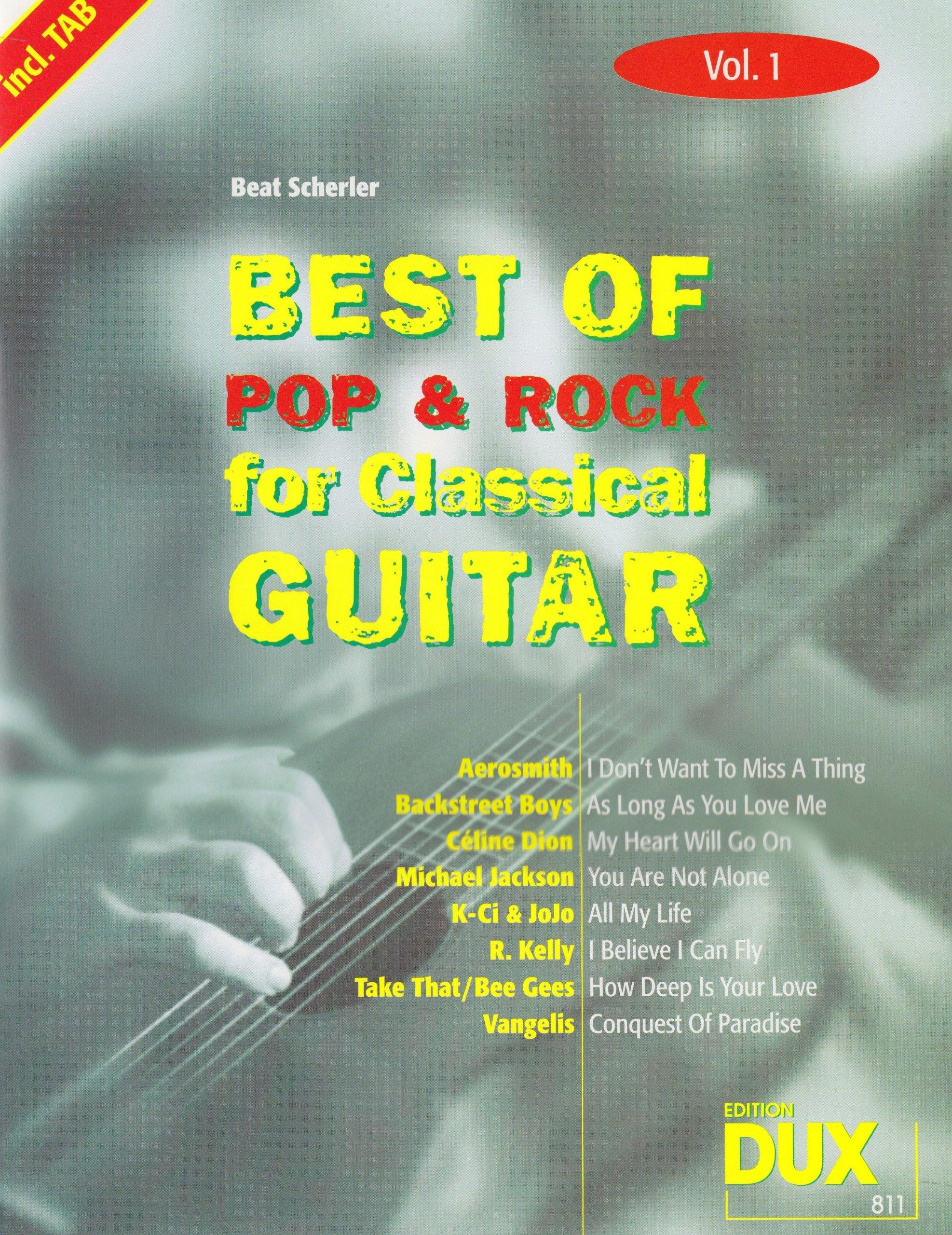 Best of Pop & Rock for Classical Guitar 1. Gitarre, Tabulatur