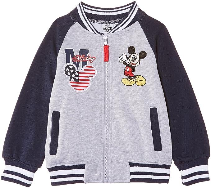 Disney Mickey Mouse Nh1105 - Sudadera para niños, Grey (Medium Grey Melange/Light Grey Melange), 3 años: Amazon.es: Ropa y accesorios
