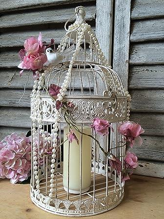 Vintage Style Vogelkafig Antik Weiss Shabby Hochzeit Dekoration Karte