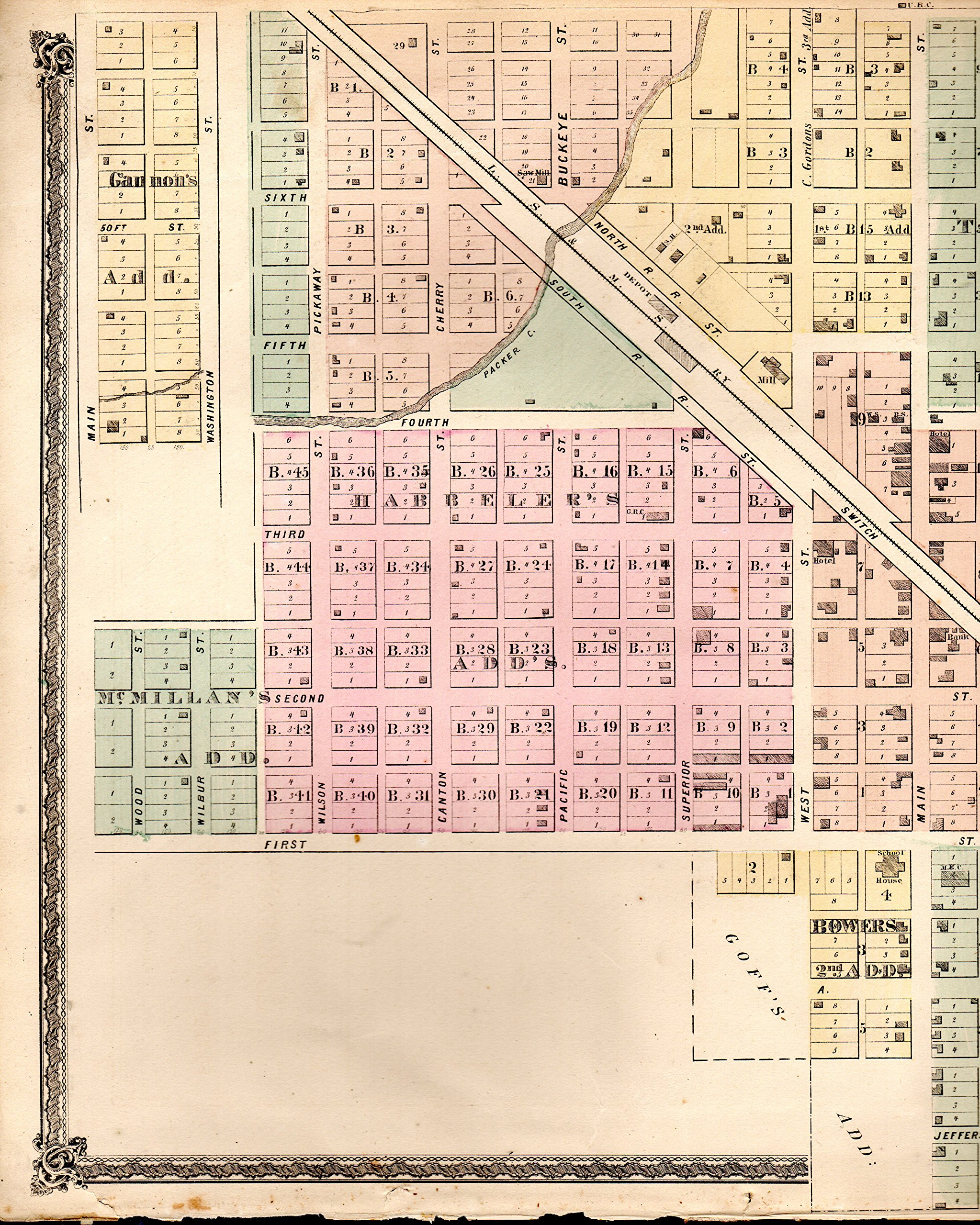 Genoa Ohio Map.Map Genoa Ohio Lake Erie Ohio From Illustrated Historical