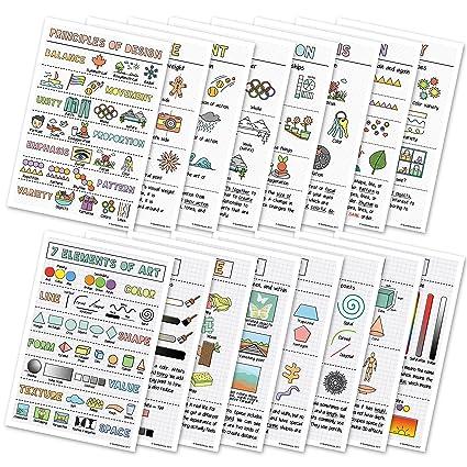 amazon com elements of art principles of design classroom