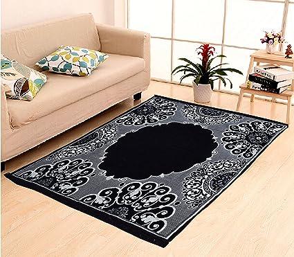 Home Elite Ethnic Velvet Touch Abstract Chenille Carpet - 55