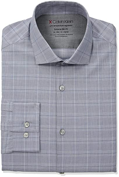 anländer bra kvalitet utsökt stil Calvin Klein Men's Dress Shirts Xtreme Slim Fit Check Thermal ...