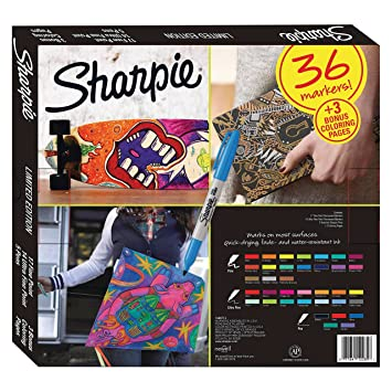 Sharpie Limited Edition Set 36 Markers + Bonus Coloring Pages ...