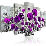 Quadro 200x100 cm ! Tre colori da scegliere - 5 Parti - Grande Formato - Quadro su tela fliselina - Stampa in qualita fotografica - Fiori papavero b-A-0001-b-p 200x100 cm B&D XXL