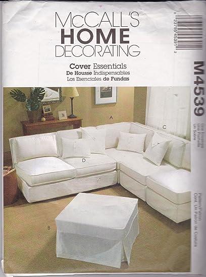 McCallu0027s 4539 Sewing Pattern Crafts Home Decorating Slipcover Essentials