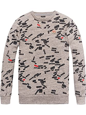 Scotch&Soda Shrunk All-Over Printed, Sweat-Shirt Gar?on, (Combo B 22), 140 (Taille Fabricant: 10)