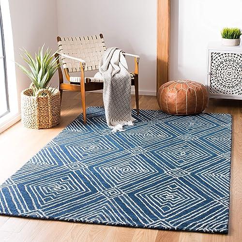 Safavieh Micro-Loop Collection MLP608N Handmade Premium Wool Area Rug