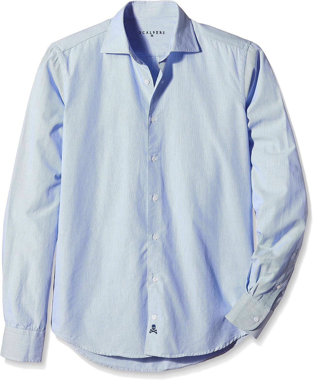Scalpers Siena Shirt I 06 Camisa, Blue, 38 para Hombre: Amazon.es: Ropa y accesorios