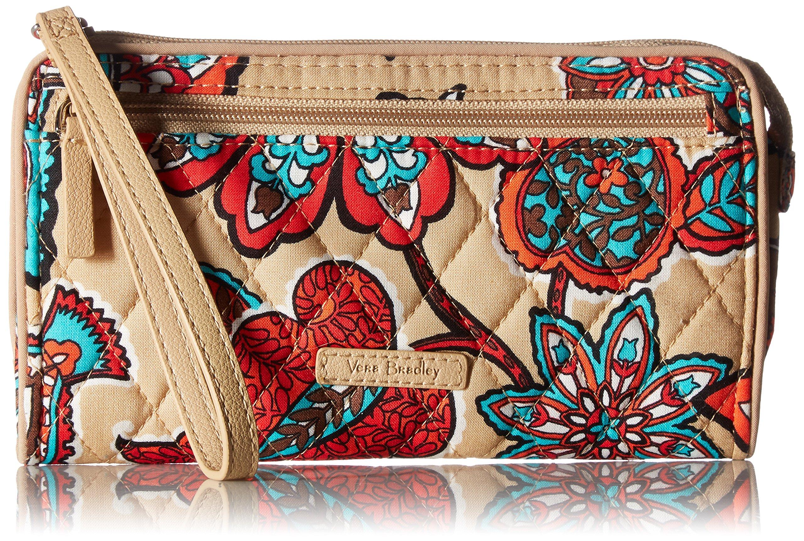 Vera Bradley Rfid Front Zip Wristlet, Signature Cotton