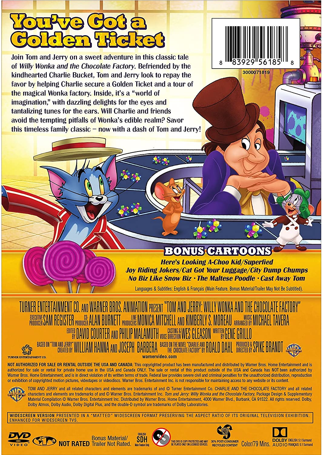 Amazon.com: Tom and Jerry: Willy Wonka and the Chocolate Factory ...