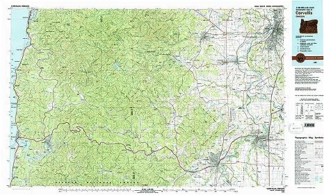 Corvalis Oregon Map.Amazon Com Yellowmaps Corvallis Or Topo Map 1 100000 Scale 30 X