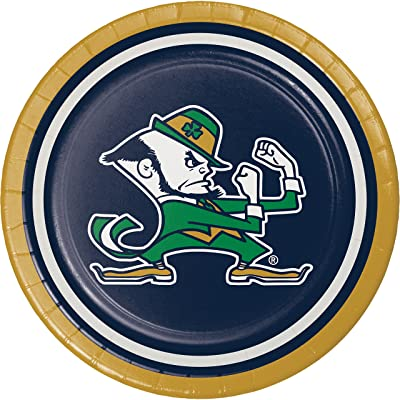 University of Notre Dame Dessert Plates, 24 ct: Health & Personal Care
