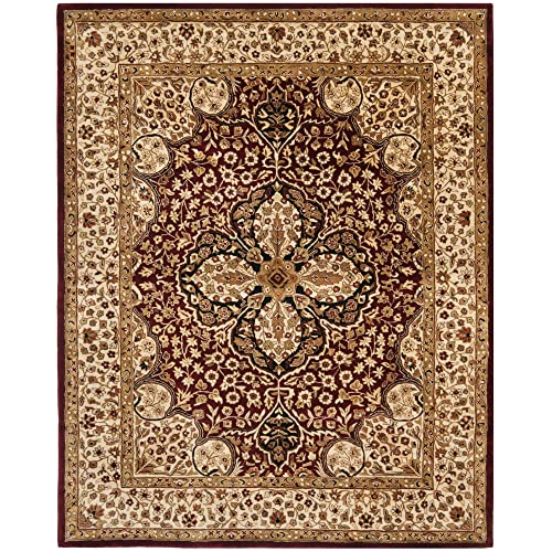 Safavieh Persian Legend Collection PL522A Handmade Traditional Red and Beige Wool Area Rug 7 6 x 9 6