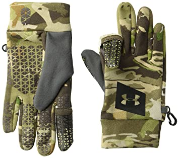eb64276821b3b Under Armour Men's Hunt Early Season Fleece Glove, UA Forest Camo (940)/