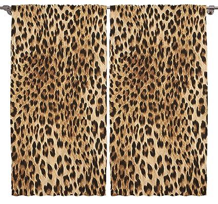 Leopard Tiger Zebra Digital Print Bedroom Living Room Dining Room Kids  Youth Room Curtain Panels One