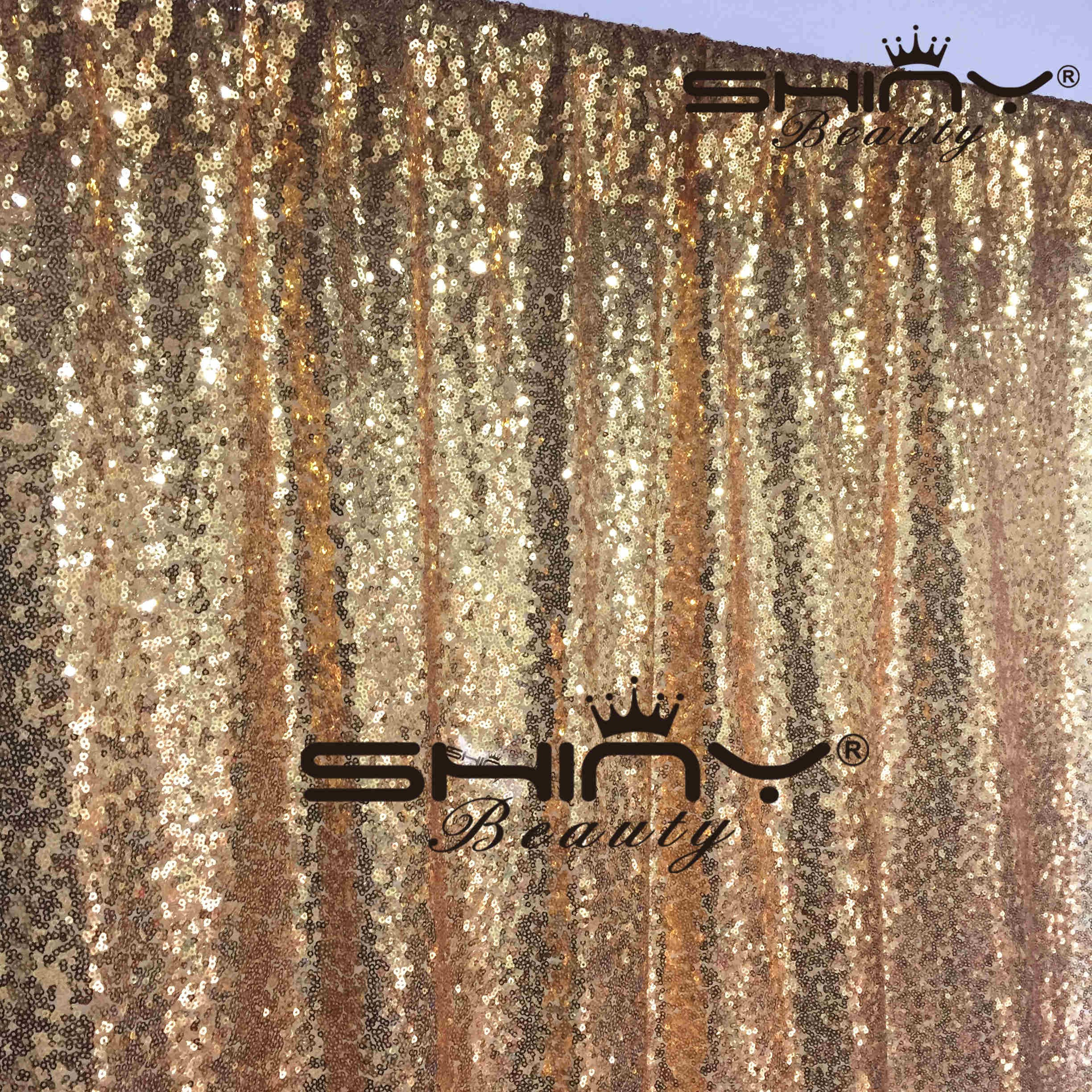 ShiDianYi 4FTX6FT-Gold-SEQUIN Photo Backdrop,Party/Prom Photography Background,Wedding Photo Booth (Gold) by ShiDianYi