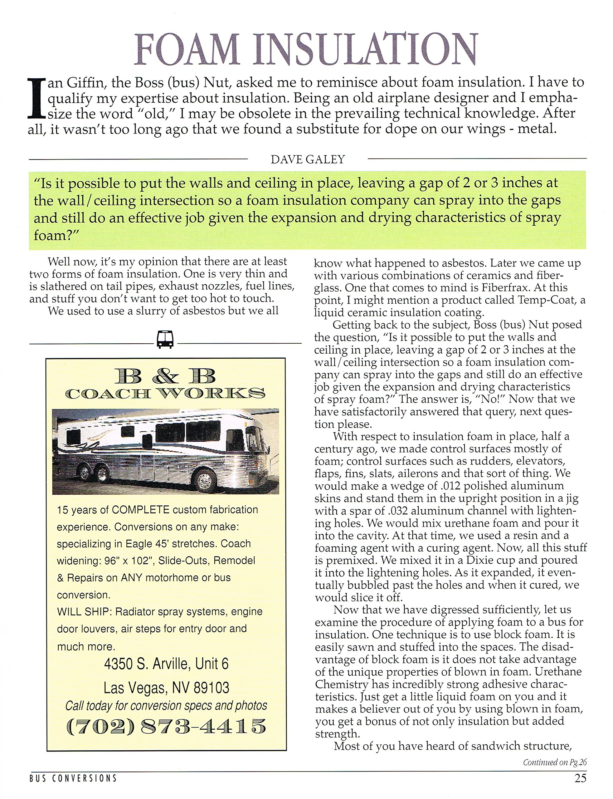 Bus Conversion Magazine - April 2013 - PRINT: Gary Hatt