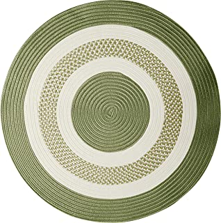 "product image for Crescent Round Area Rug, 8"", Moss Green"