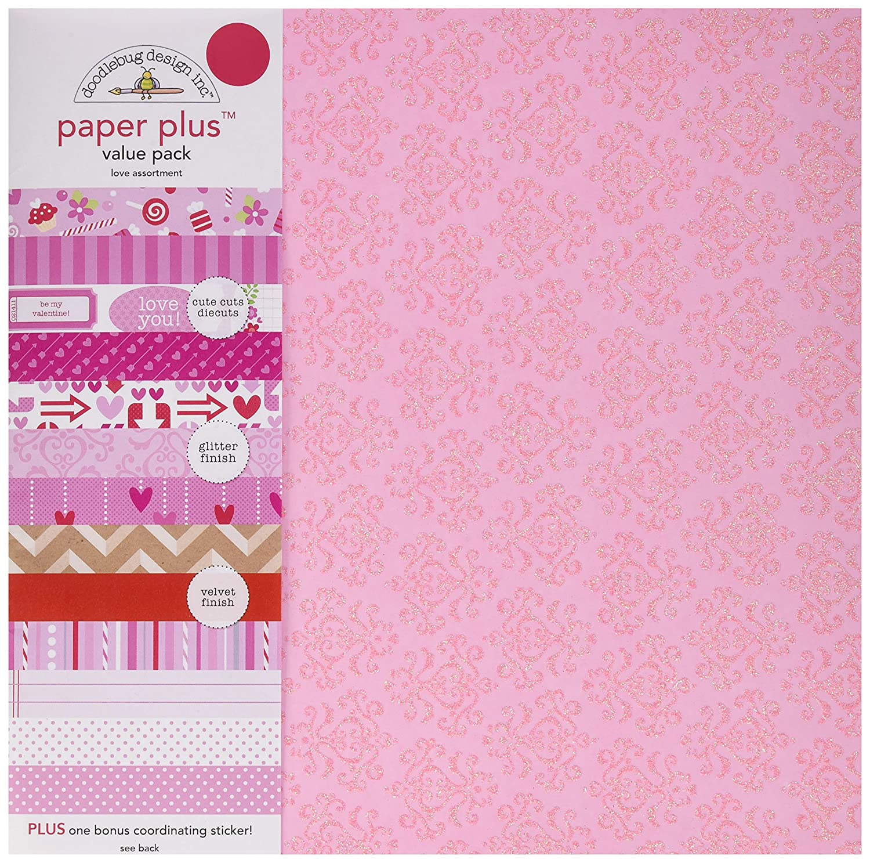 12 Pack 12 X 12 Love Doodlebug 5174 Paper Plus Value Supplies Multicolor