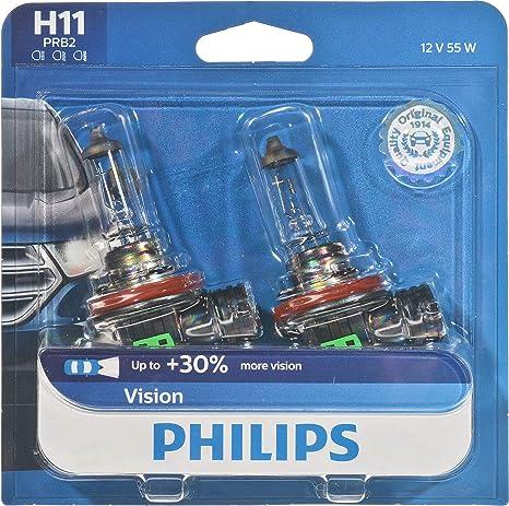 Philips Vision 12362PRB2 bombilla para coche H11 55 W Halógeno PGJ19-2 - Bombilla para