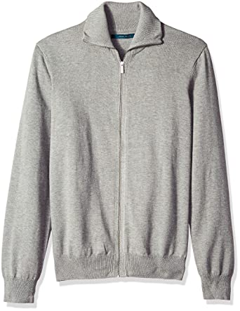 79ff38fb7d Perry Ellis Men s Jersey Knit Zip-Front Cardigan Sweater at Amazon Men s  Clothing store