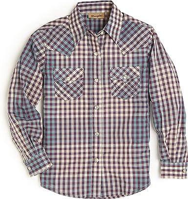 Wrangler Long Sleeve Western Shap Shirt Camisa para Niñas