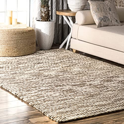 nuLOOM Dianne Faded Jute Rug, 7 6 x 9 6 , Natural