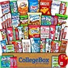 College Box Care Package (45 Count) Snacks Cookies Bars Chips Candy Ultimate Variety Gift Box Pack Assortment Basket Bundle Mixed Sampler Treats College Students Office Fall Back to School Halloween
