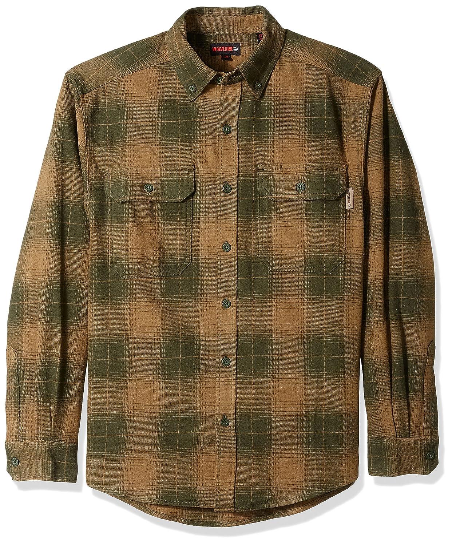 (ウルヴァリン) Wolverineメンズシャツ Redwood厚手両面起毛 フランネル B0722JM7M9 M|Hunter Plaid Hunter Plaid M