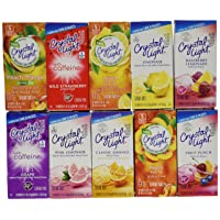 Crystal Light Drink Mix Variety ON THE GO ~ Pack with 10 Flavors ~ (Pack of 10)