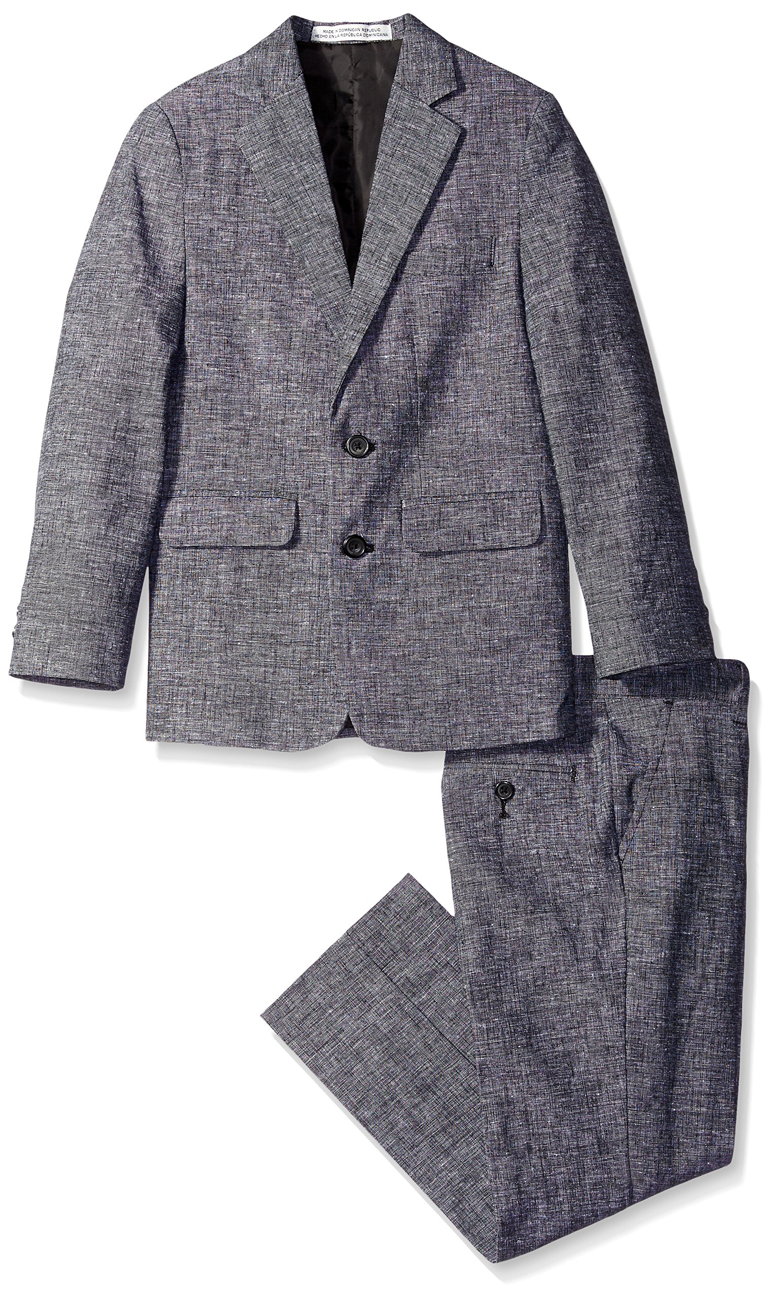 Perry Ellis Big Boys' Tickweave Suit, Black, 16 by Perry Ellis (Image #1)