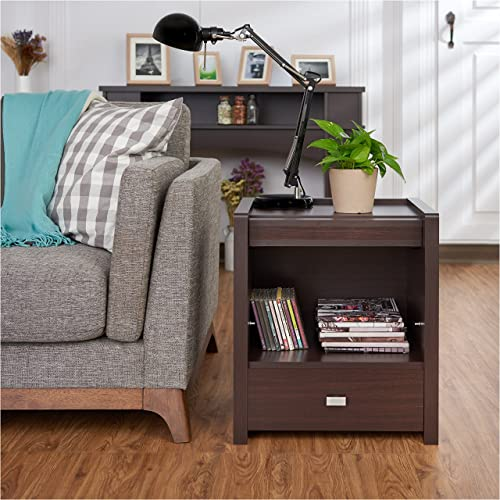 Furniture of America Ricardo Contemporary Wood End Table