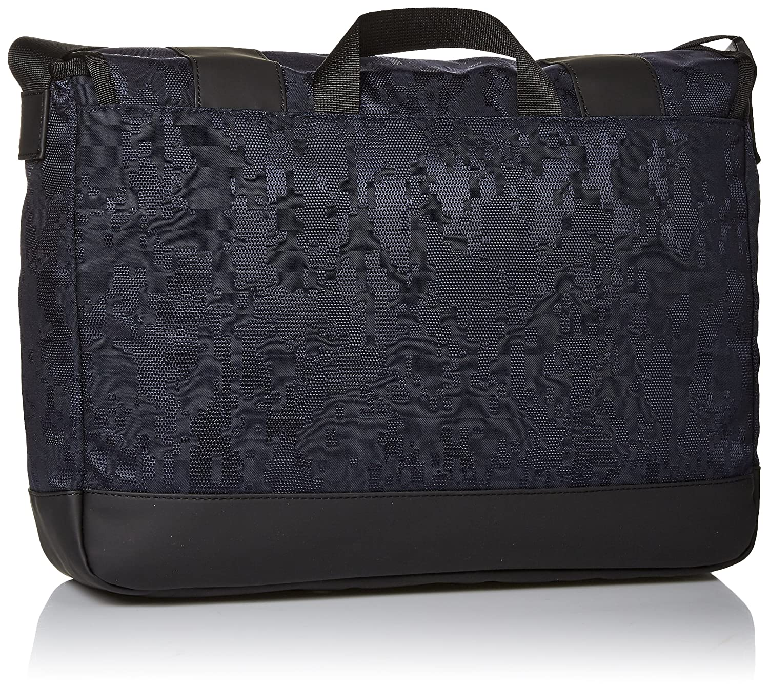 38bd499e2904 Amazon.com  Armani Jeans Men s Jacquard Fabric and Rubberized Messenger  Bag  Clothing