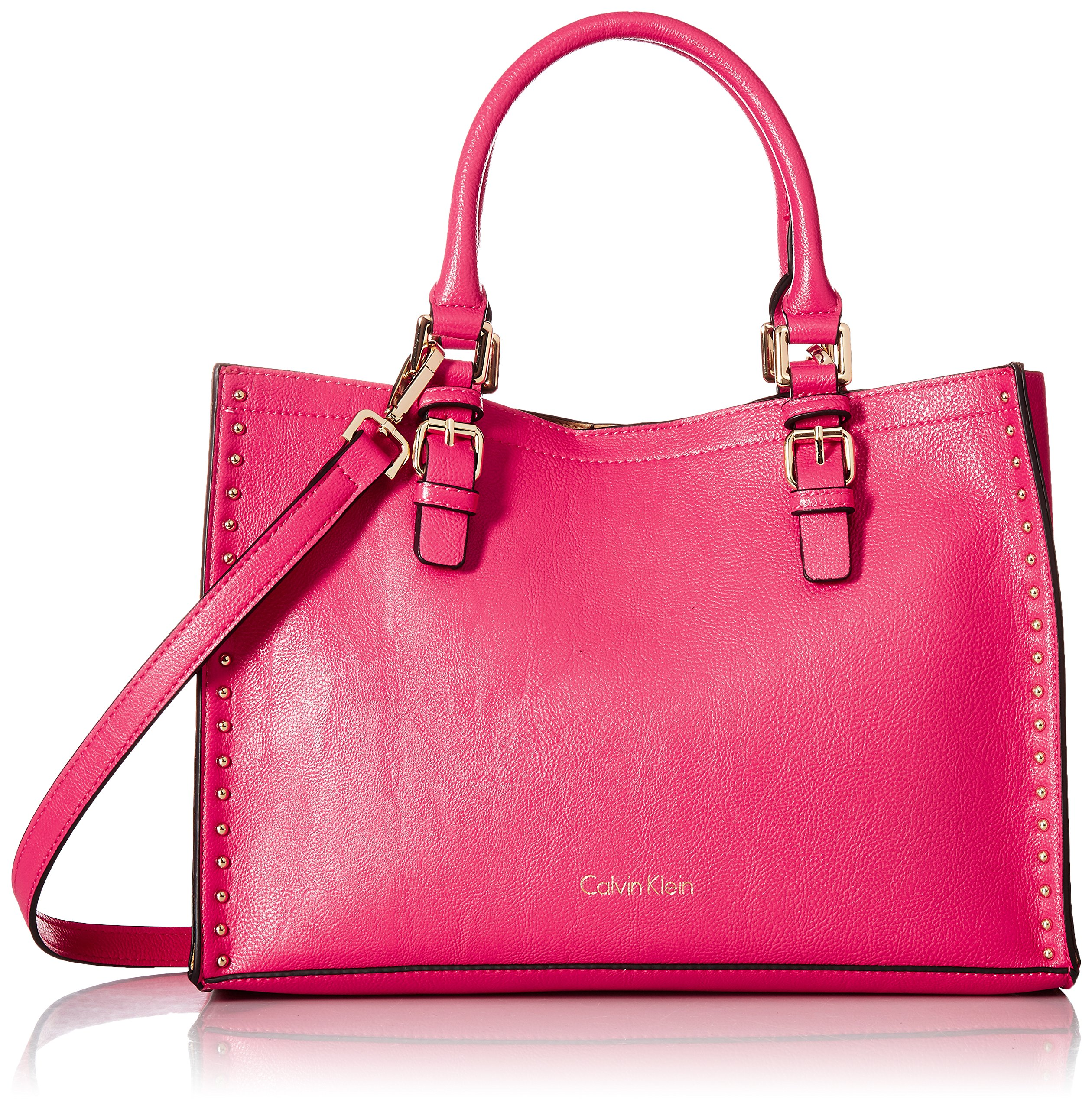 Calvin Klein Unlined Novelty Casual Tote, Miami Pink