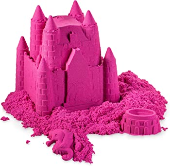 WALLA Pink Play Sand for Kids with Mess-Free Magic Sand
