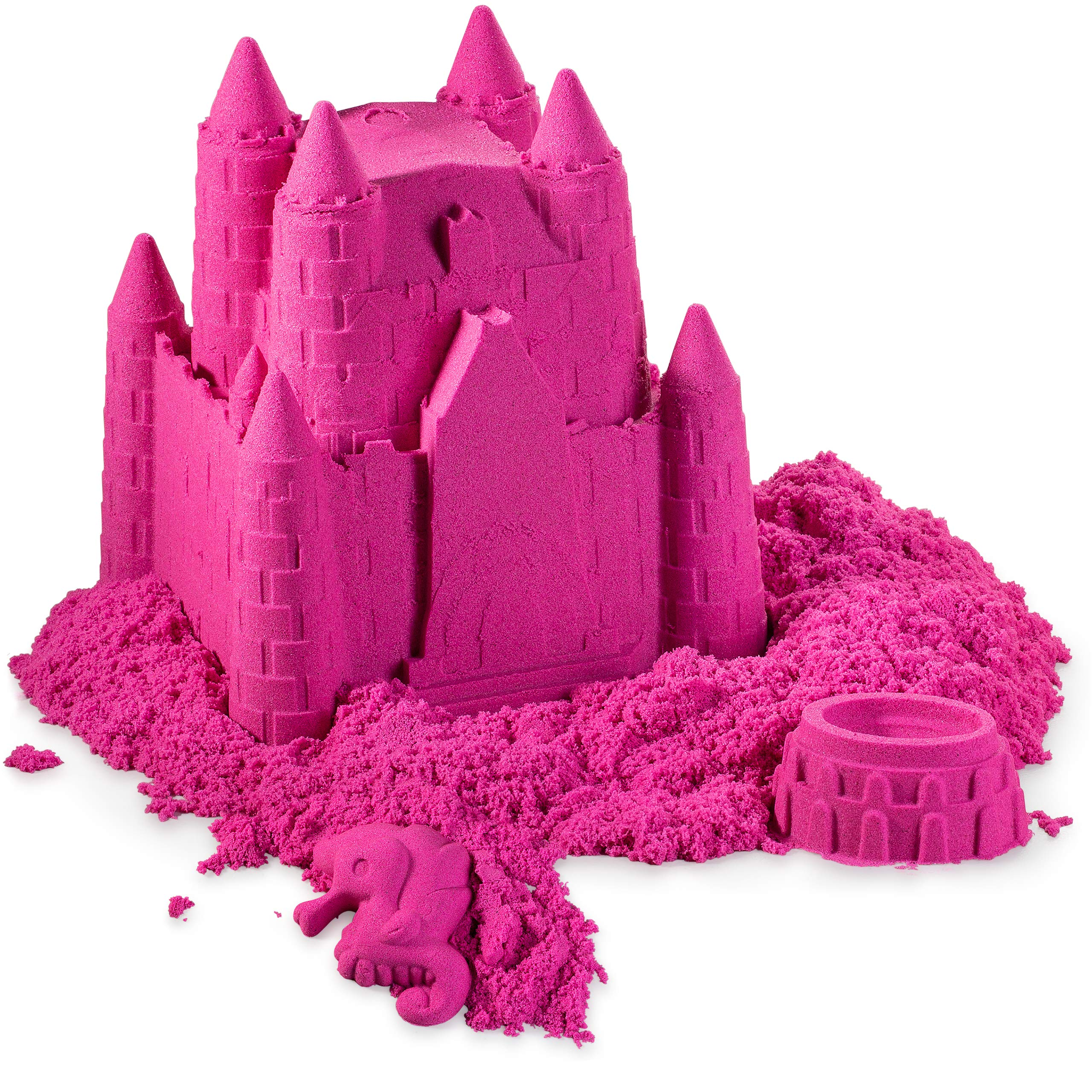 walla Play Sand (5 lbs.) | Pink Play Sand for Kids | Great Kinetic Sensory Toy for Creating Fun, Moldable Sand Art & Work On Fine Motor Skills | Bring The Beach to Your Home with Mess-Free Magic Sand