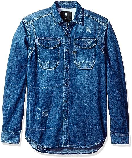33a62b5f5f Amazon.com  G-Star Raw Men s Wolker Long Sleeve Button Down Shirt ...