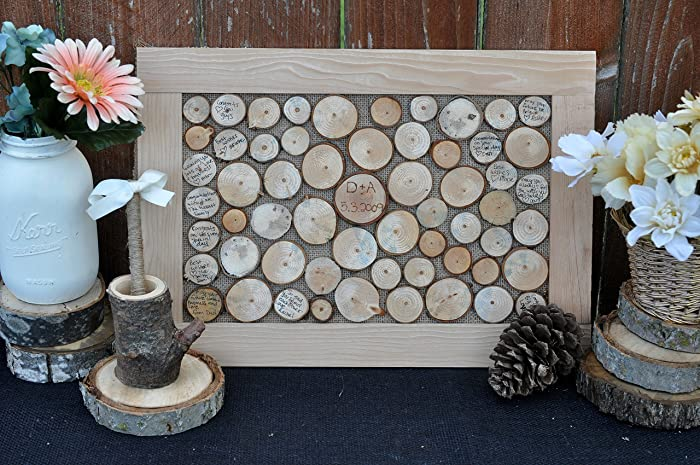 Wedding Guest Book Alternative Rustic Wood Sign In Guestbook Frame