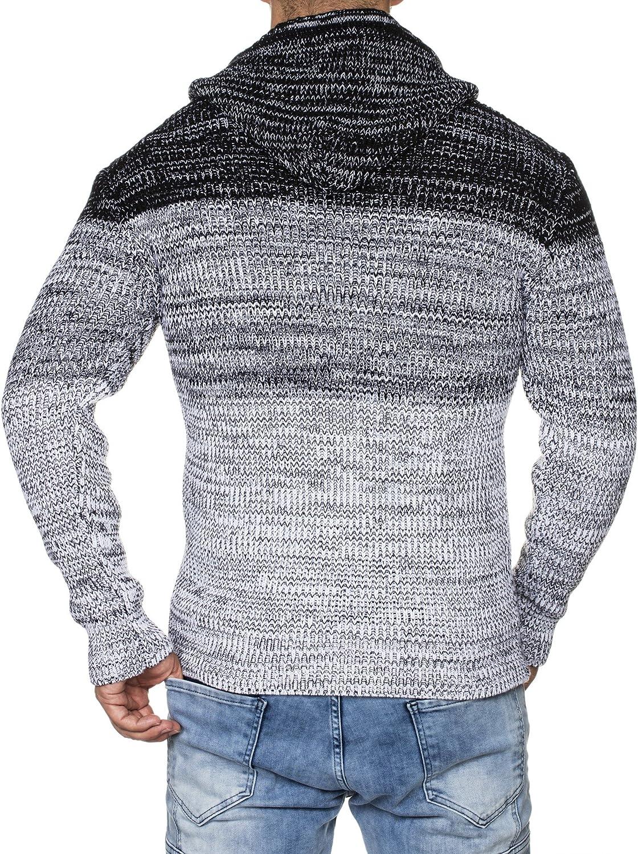 Tazzio 16485 Veste en tricot pour homme Motif m/élang/é