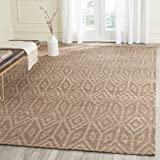 Safavieh Cape Cod Collection CAP411A Hand Woven Geometric Camel Jute and Cotton Area Rug (5' x 8')