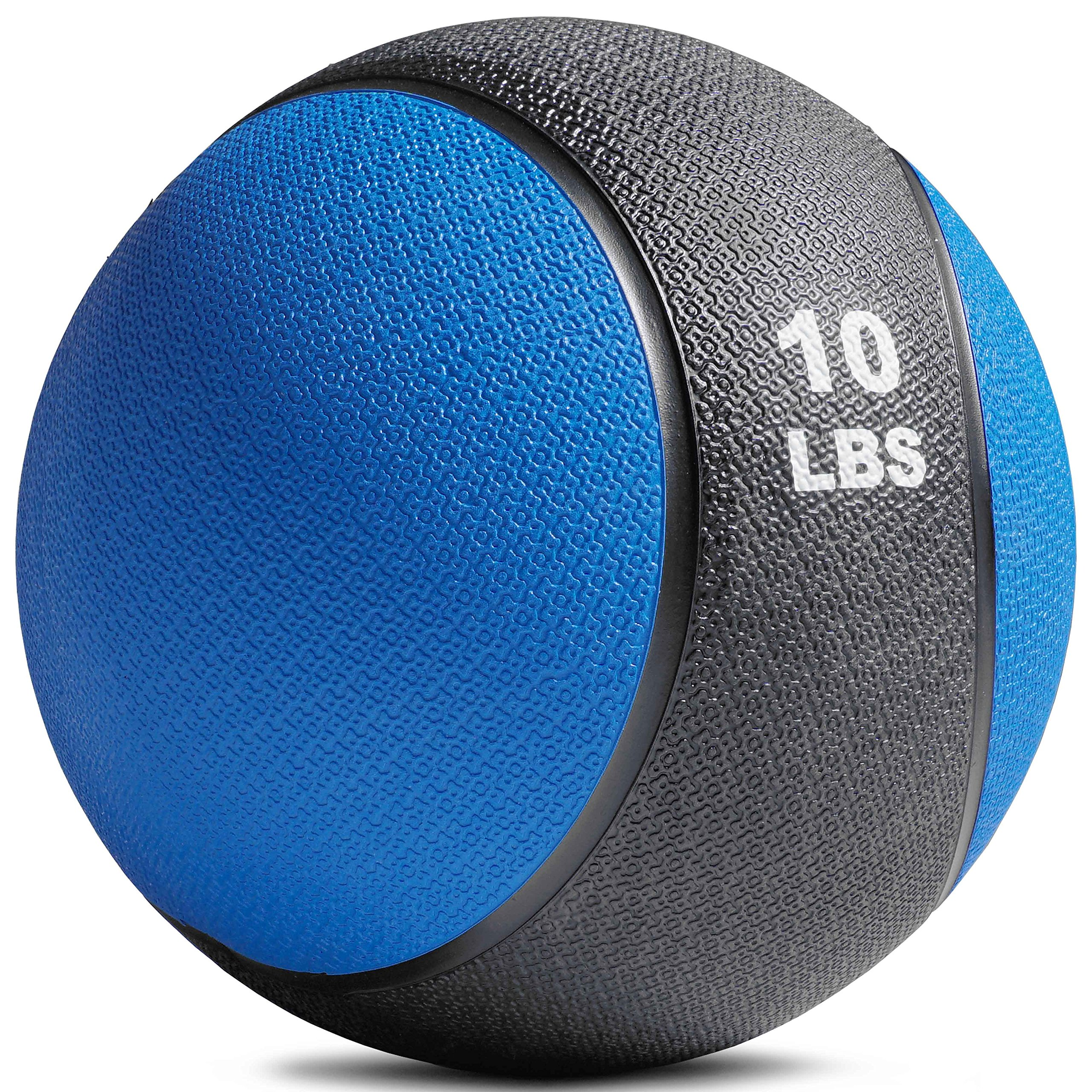 TITAN FITNESS Weighted Medicine Ball 10LB Rubber Muscle Driver Sport Therapy WOD
