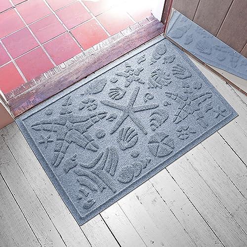 AquaShield Beachcomber Doormat, 2 x 3 , Bluestone