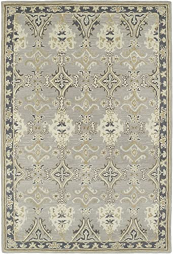 Kaleen Rugs Middleton Collection MID04-75 Grey Hand Tufted 8 x 10 Rug