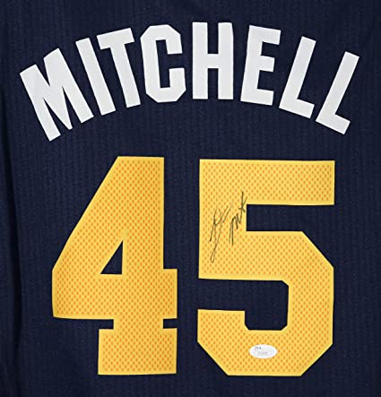 c7d37f1ed43 Donovan Mitchell Utah Jazz Signed Autographed Blue  45 Jersey JSA COA at  Amazon s Sports Collectibles Store