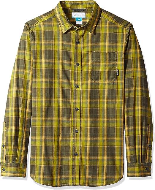 Columbia Mens Shirt Beige Size Small S Vapor Ridge III Plaid Button Down $50 341