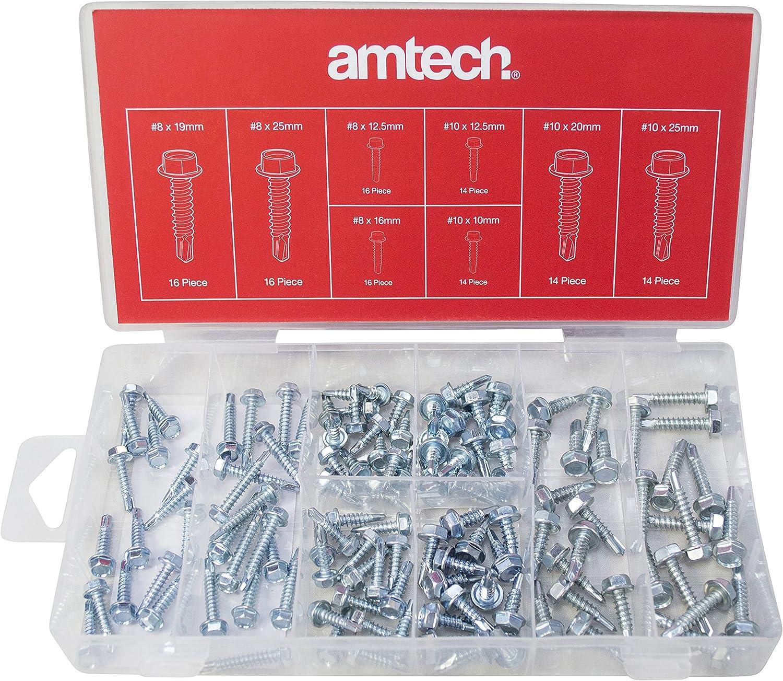 Amtech S6295 Self Drilling Screws 120-Piece