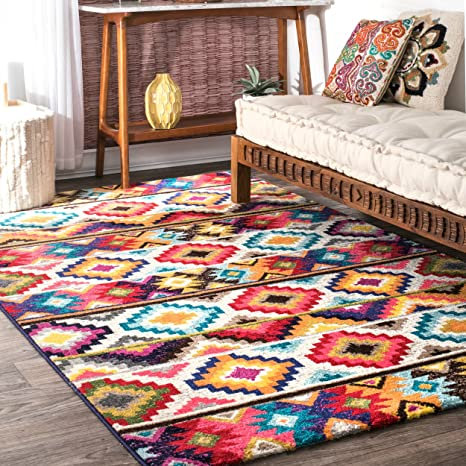 Amazon.com: Furniture of Home Living Room Rugs Multi Color ...