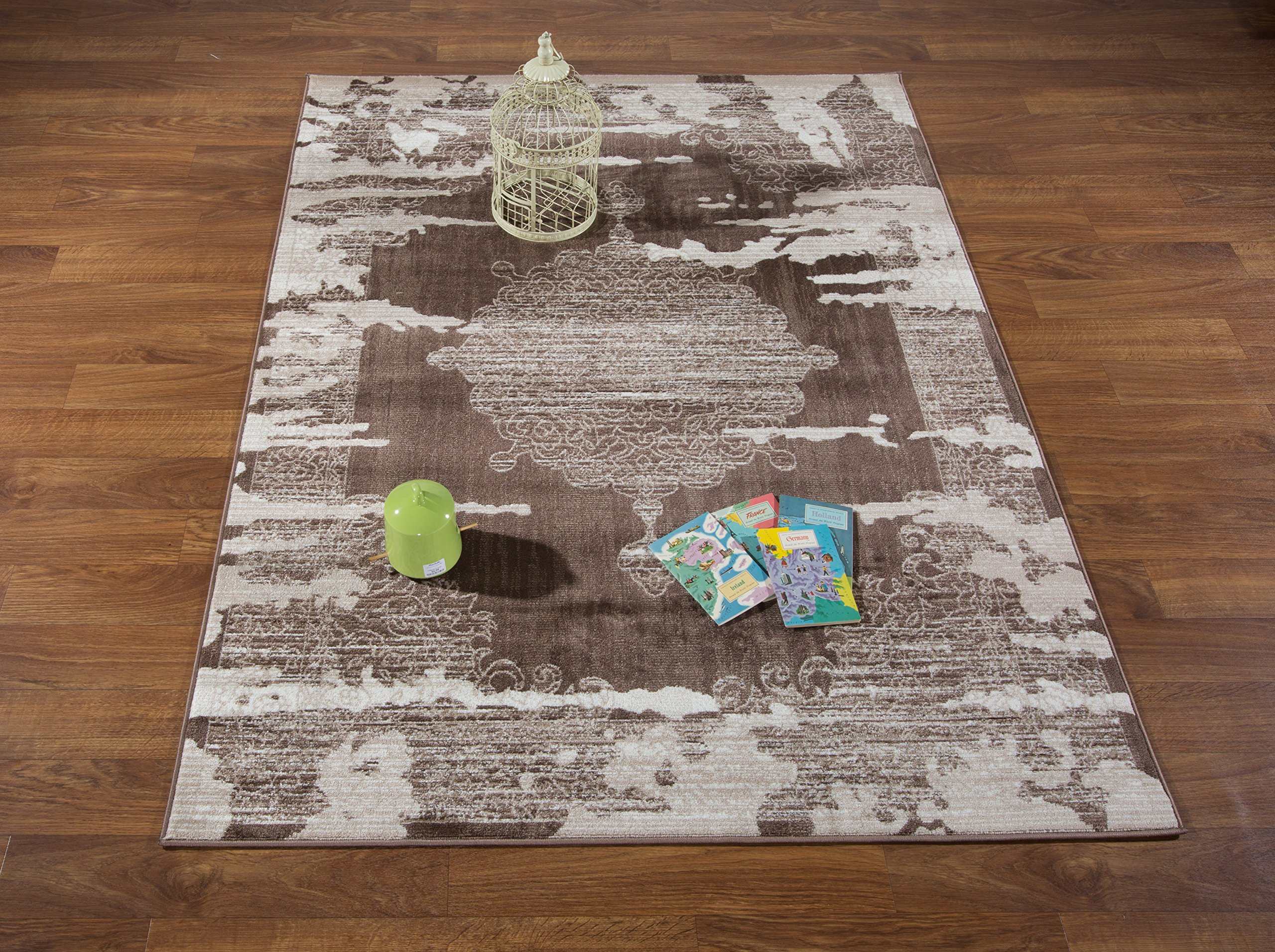 Antep Rugs Zeugma Collection Vintage Area Rug 288-Brown Beige 7'10 X 10' by Antep Rugs (Image #4)