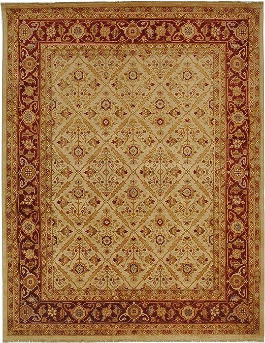 Amazon Com Safavieh Samarkand Collection Sr816a Handmade Traditional Oriental Premium Wool Area Rug 6 X 9 Ivory Rust Furniture Decor